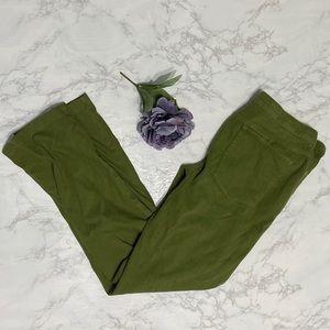 Isaac Mizrahi Live! green straight leg pants 16